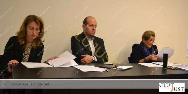 Avocata Ioana Stanca, decanul Baroului Cluj, Mircea Pop, și șefa INPPA Cluj, Gidro Stanca