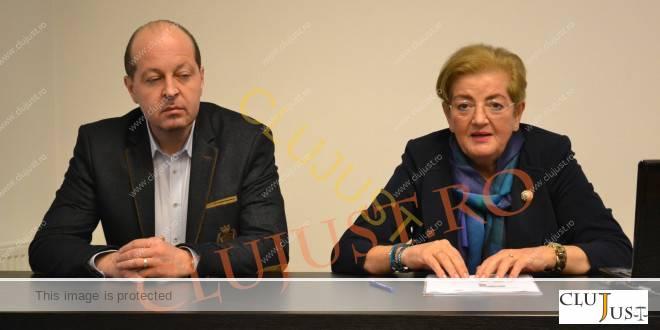 Decanul Baroului Cluj, Mircea Pop, și directorul INPPA Centrul Teritorial Cluj, Stanca Gidro
