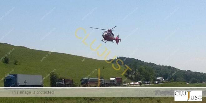 Accident grav la Stejeris. S-a intervenit cu elicopterul SMURD