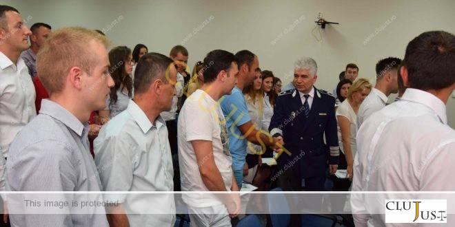 Mulți tineri printre noii agenți de poliție din Cluj, recrutați din sursă externă