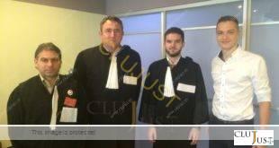 Ciprian Roman, Călin Budișan, Alexandru Corpodean și Răzvan Trușcă (acesta nu are încă robă, căci se așteaptă validarea rezultatelor de la examenul pentru Barou)
