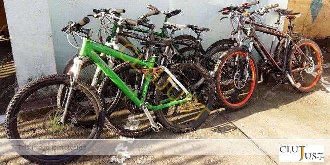 Șase biciclete scumpe, furate la o singură spargere, au fost recuperate de polițiștii clujeni