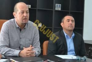 Decanul Baroului Cluj Mircea Pop si prodecanul Călin Budișan