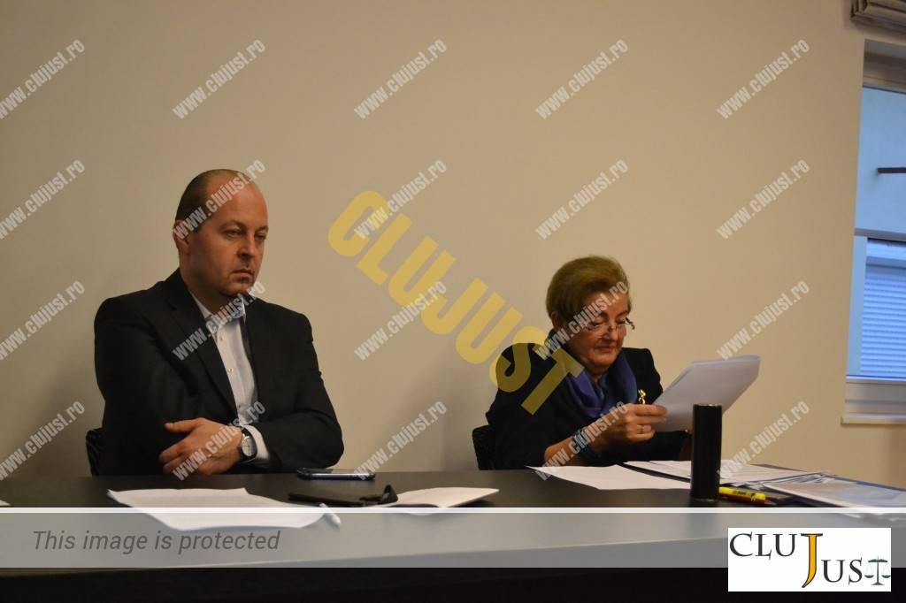 Decanul Baroului Cluj, Mircea Pop, și șefa INPPA Cluj, Gidro Stanca