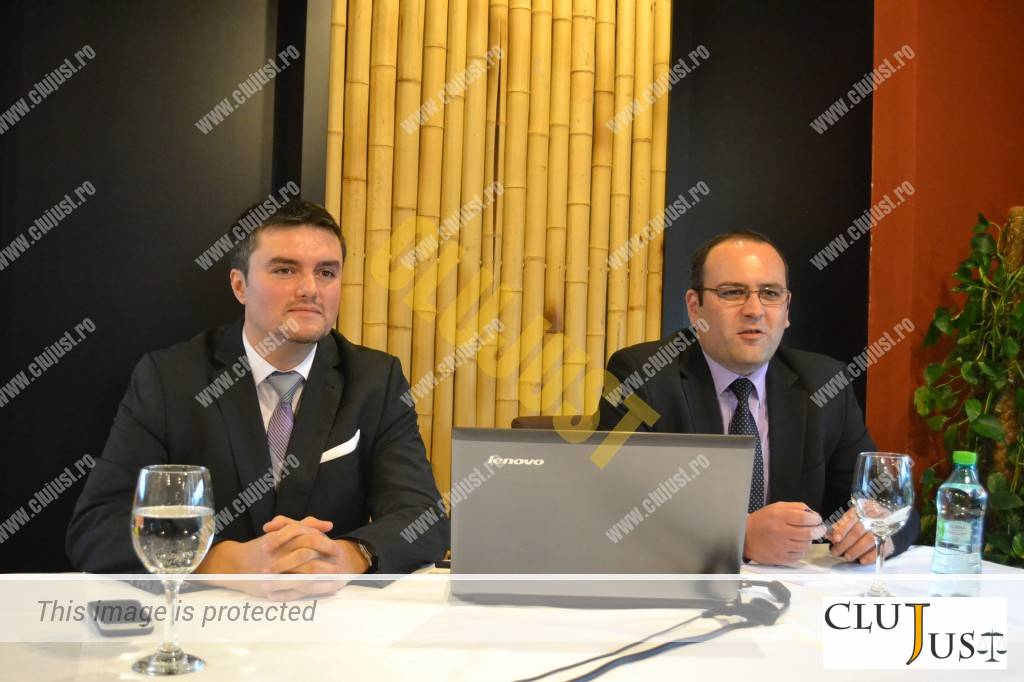 Sorin Hanja - Business Development EnegoBit ESCO și Cosmin Sîndean - manager City Plaza