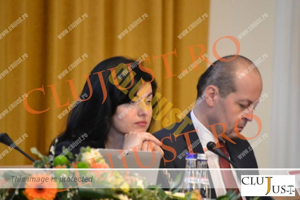Președintele Curții de Apel, judecător Denisa Băldean, și decanul Baroului Cluj, Mircea Pop