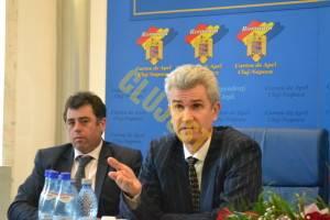 Horațius Dumbravă (stânga) și Adrian Bordea