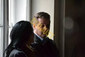 Vasile Pogăcean alături de avocata lui, Laura Baciu