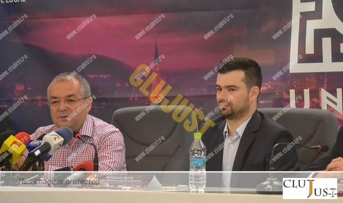 Primarul Emil Boc și managerul Untold Festival, Bogdan Buta
