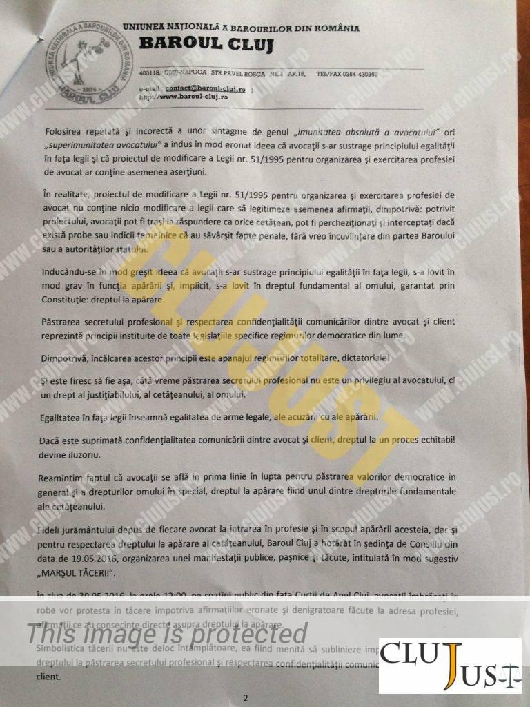 scrisoare baroul cluj2