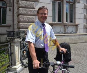 radu mititean cu bicicleta