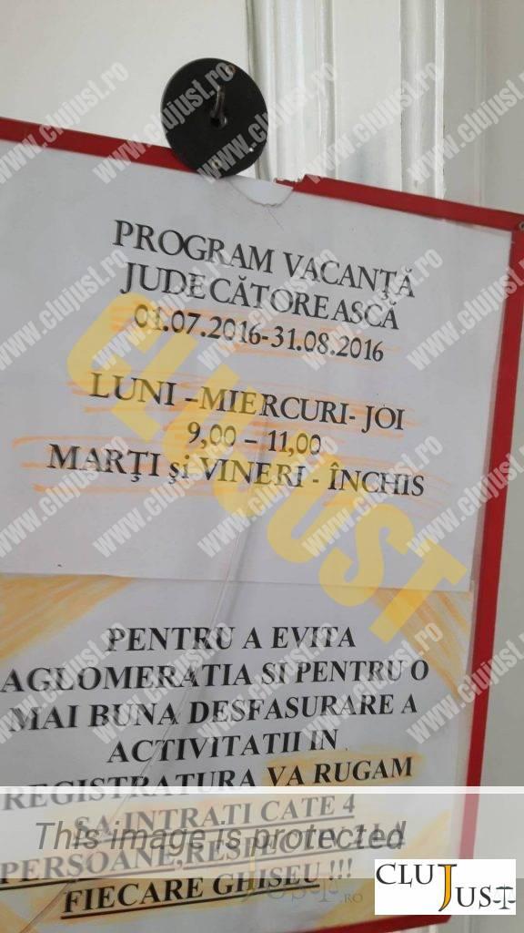 program vara registratura judecatorie