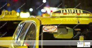 A sticker rejecting Uber rideshare application is seen on the rear window of a Budapest licenced taxi cab during an unannounced taxi driver demonstration against the internet service as the chauffeurs restrict traffic with their vehicles at Erzsebet square in the early morning hours in downtown Budapest, Hungary, Monday, Jan. 18, 2016. (Peter Lakatos/MTI via AP)