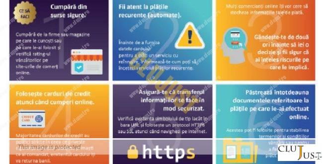 Reguli de siguranță pentru cumpărături online sigure INFOGRAFIE