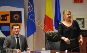 Arhitectul Claudiu Salanţă şi directorul Mariana Raţiu
