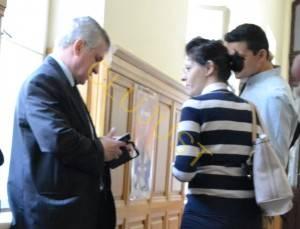 Daniela Dobrilă și avocatul Tiberiu Ban