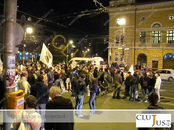 protest rosia la prefectura cluj