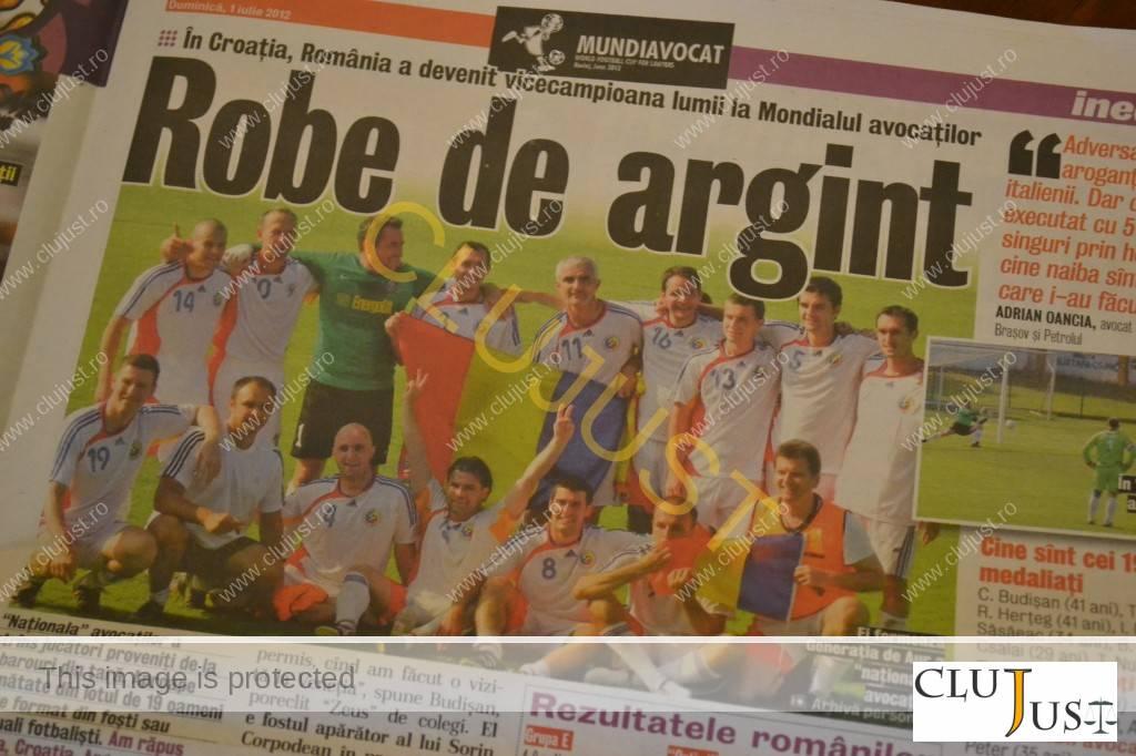 Gazeta Sporturilor a dedicat un articol special naționalei avocaților după Mondial
