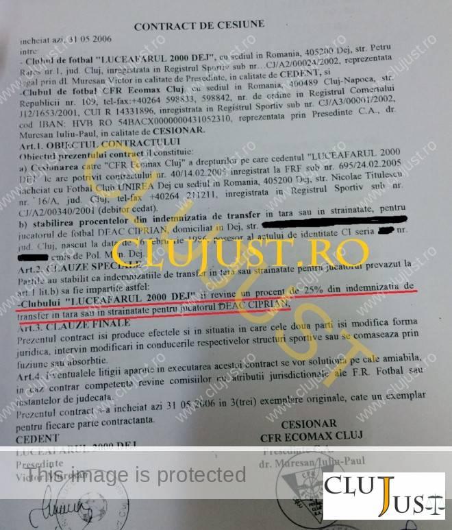 contract cesiune cfr luceafarul dej