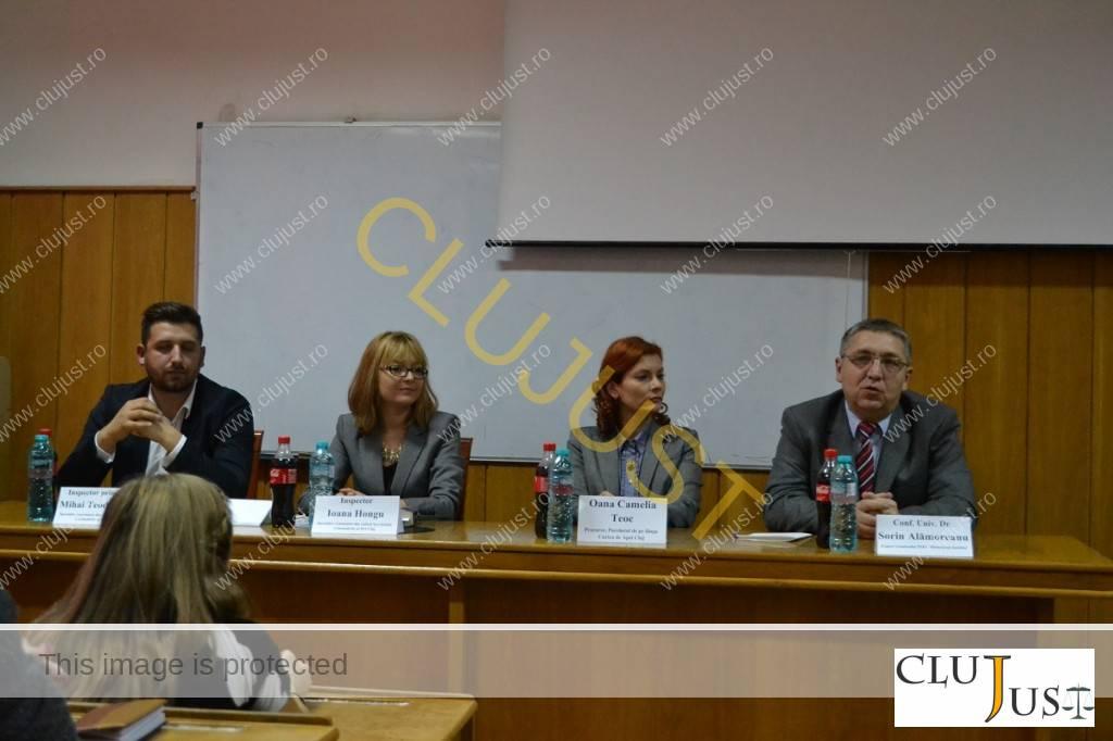 Inspectorii Mihai Teodorescu și Ioana Hongu de la IPJ Cluj, procuror Oana Teoc și  expert criminalist Sorin Alămoreanu