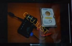 Blocker conectat la hard-disk