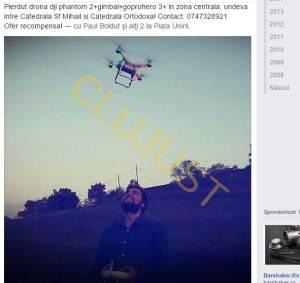 Anunțul de pe Facebook