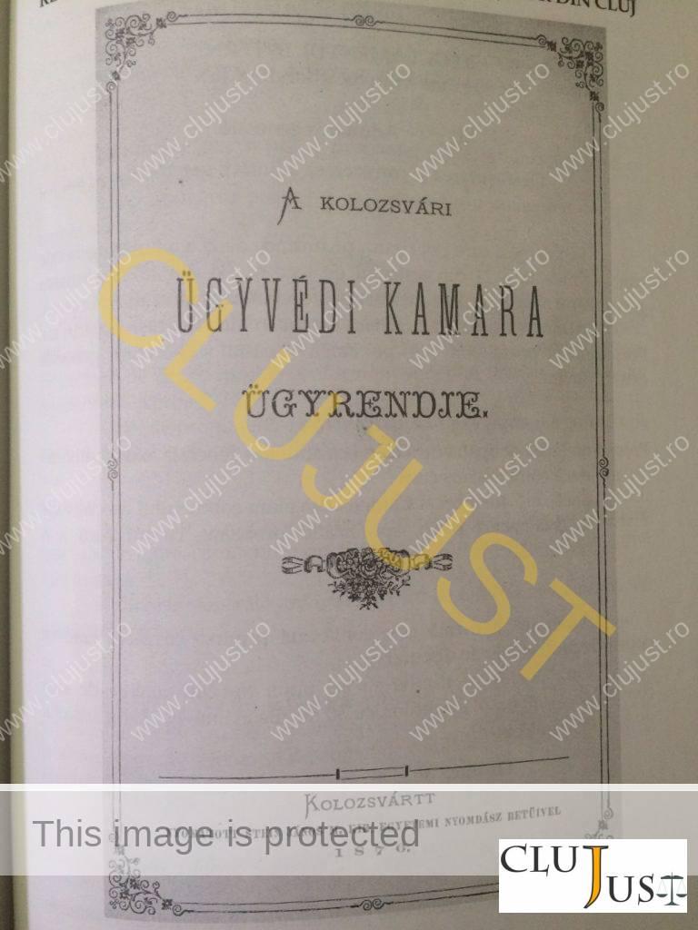 regulament intern camera avocatilor cluj 1876