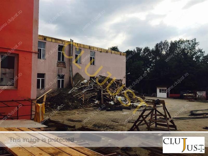 Lucrările de la Liceul Mihai Eminescu (sursa foto ziuadecj.ro)