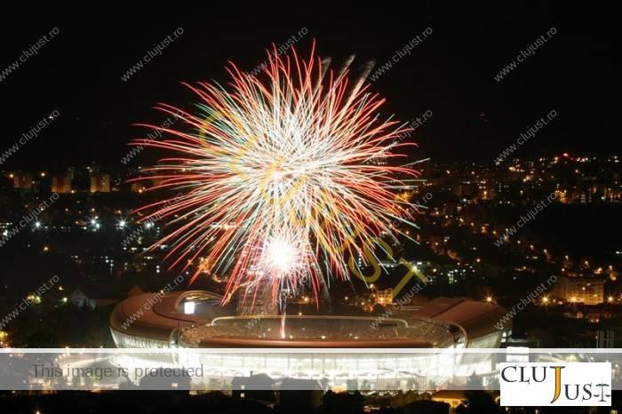 artificii cluj arena foto eugen olariu