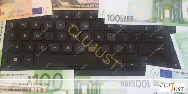 bani pe tastatura