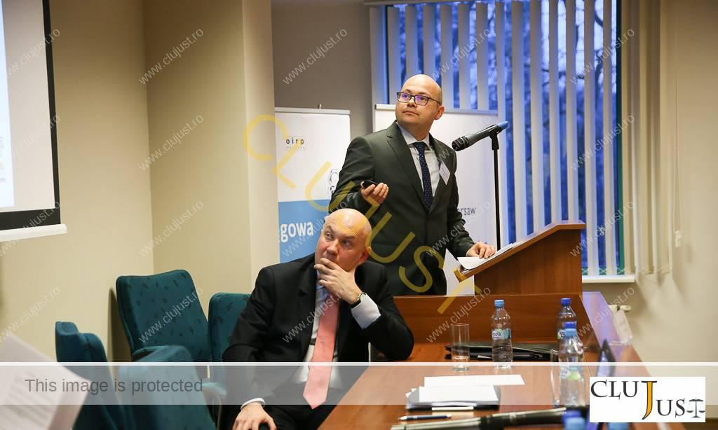 Av. Călin Iuga în timpul prezentării la conferința din Varșovia - Investing Abroad Real Properties (foto Borys Skrzynski www.artzoom.pl)