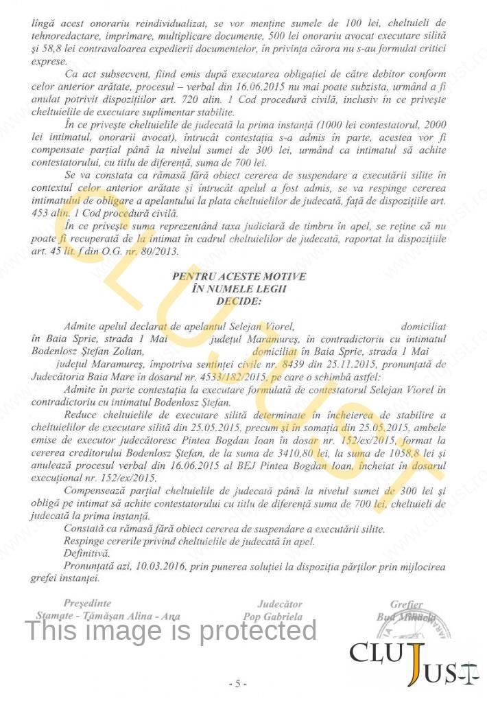 decizie mm cheltuieli executor 05
