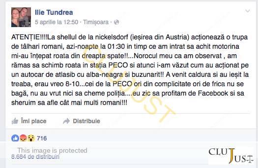 postare facebook hoti austria