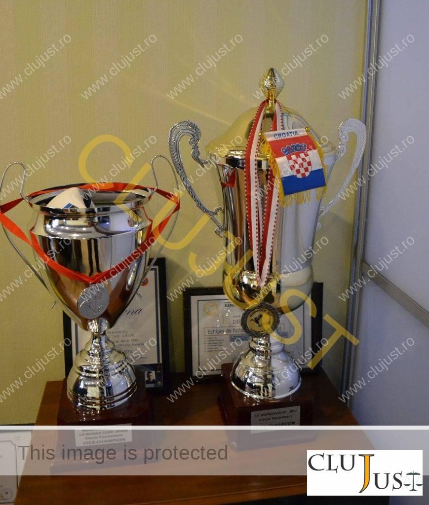 Cupele de vicecampioni stau în biroul lui Budișan
