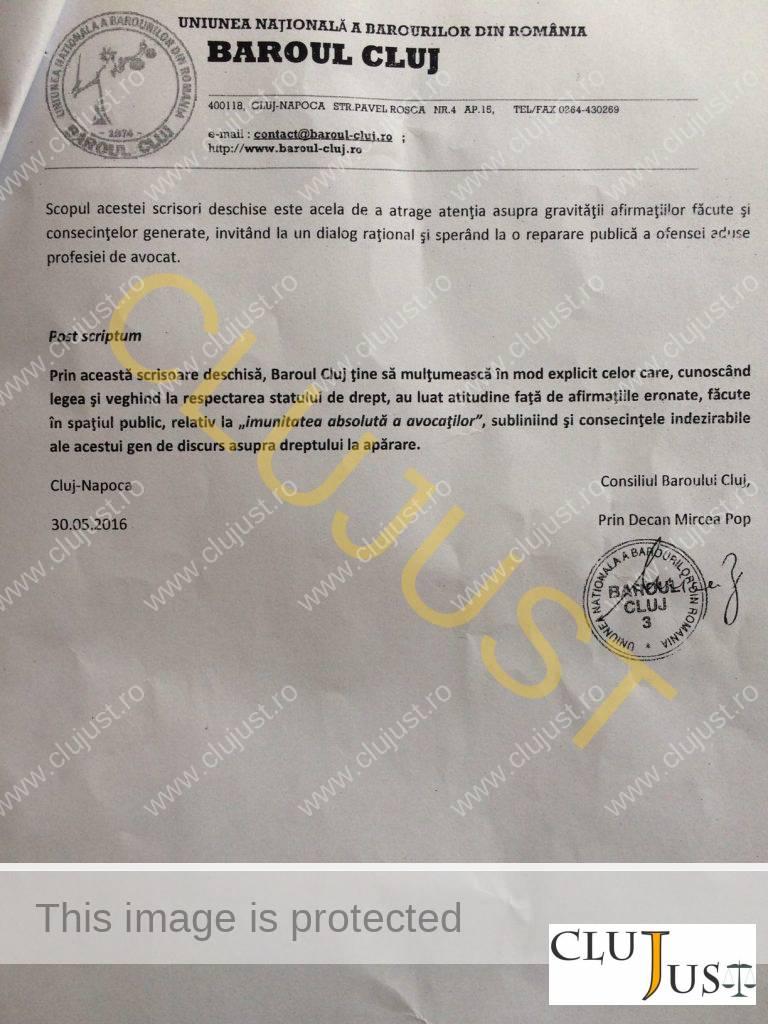 scrisoare baroul cluj3