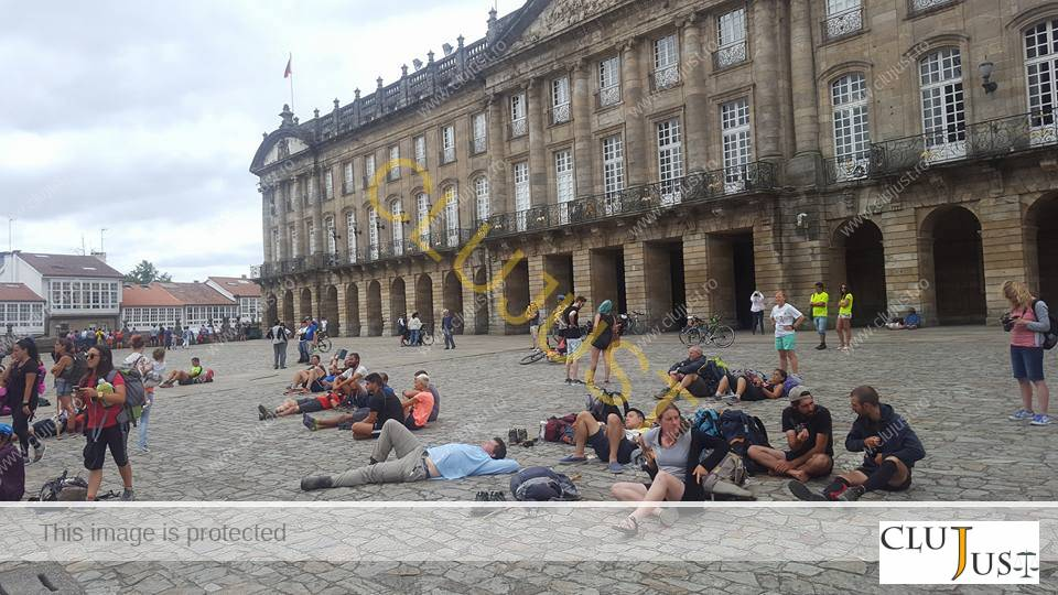 Piața din Santiago de Compostela