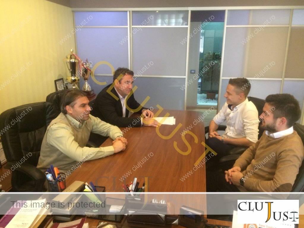 Ședință operativă cu fotbaliștii de la cabinetul Budișan