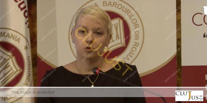 """Dana Gîrbovan la Congresul Avocaților: """"Este datoria avocatului să participe la reconciliere, la stabilitate, la pace socială"""""""