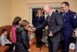 Moș Nicolae a venit la o casă de copii din Cluj-Napoca cu ajutorul poliției