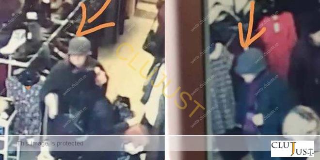 VIDEO O femeie în vârstă fură un portofel într-un magazin de haine din centrul Clujului
