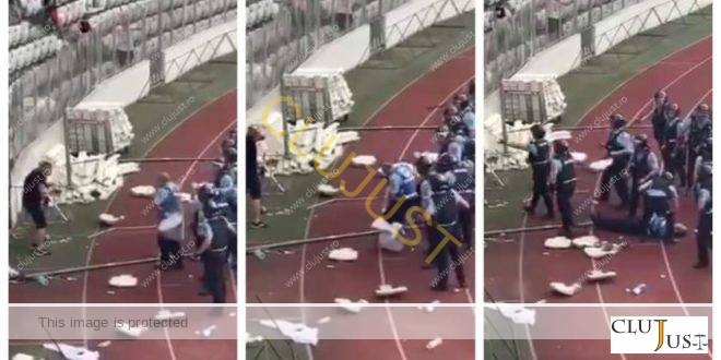 Ce a spus la instanță și de ce a fost arestat suporterul care l-a lovit cu scaunul pe jandarm pe stadion