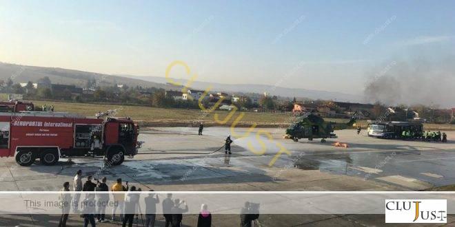 24 de morți și 16 răniți grav într-un accident aviatic simulat pe Aeroportul Internațional Cluj. Exercițiu de amploare