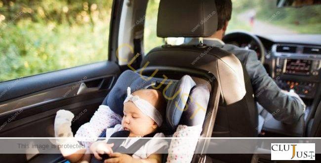 Poliția Rutieră Cluj va verifica dacă și cum sunt utilizate scaunele auto pentru copii