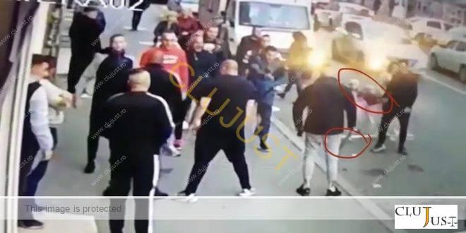 Huliganii care au fluturat macete pe stradă în plină zi, de față cu copii, au fost puși sub control judiciar
