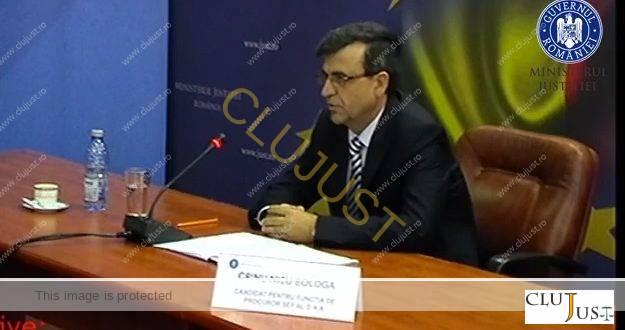 Ministrul Predoiu l-a propus pe Crin Bologa, fost șef DNA Cluj și prim-procuror la Sălaj, la șefia DNA