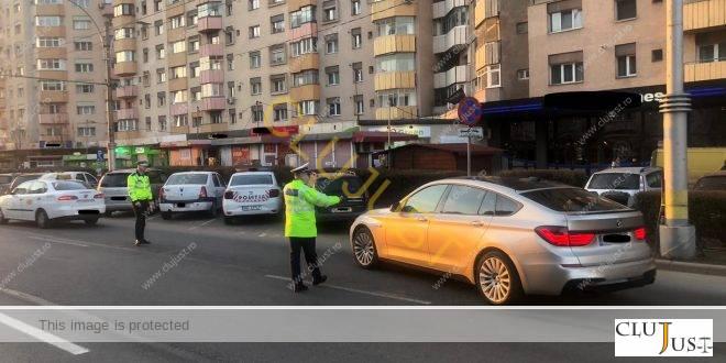 Peste o sută de sancțiuni și 12 permise reținute pentru nereguli în trafic, în două ore în Cluj-Napoca