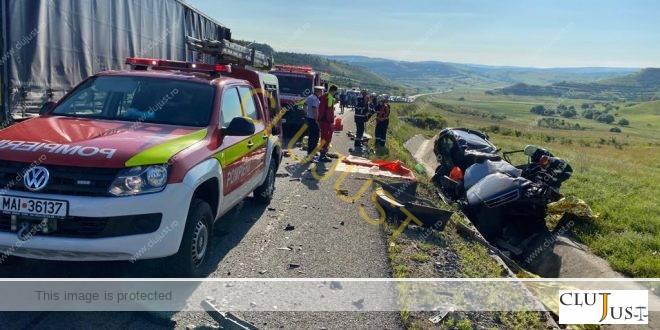 Accident cumplit pe centura Vâlcele – Apahida între un TIR și un autoturism. Trei persoane decedate!
